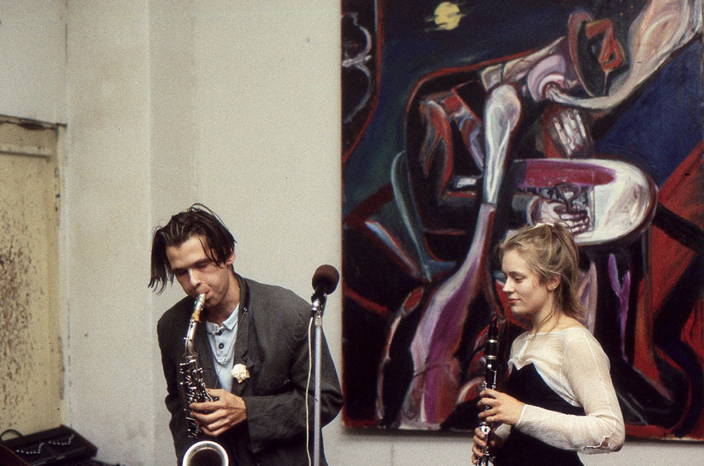 Klaus Killisch, opening @ Zinnober in East Berlin, 1988
