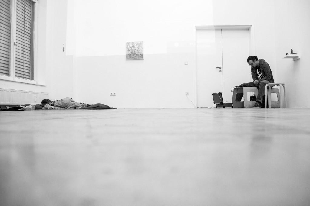 heads will roll, rehearsal @ Emerson Gallery, 2013, (Foto Sulamith Sallmann)