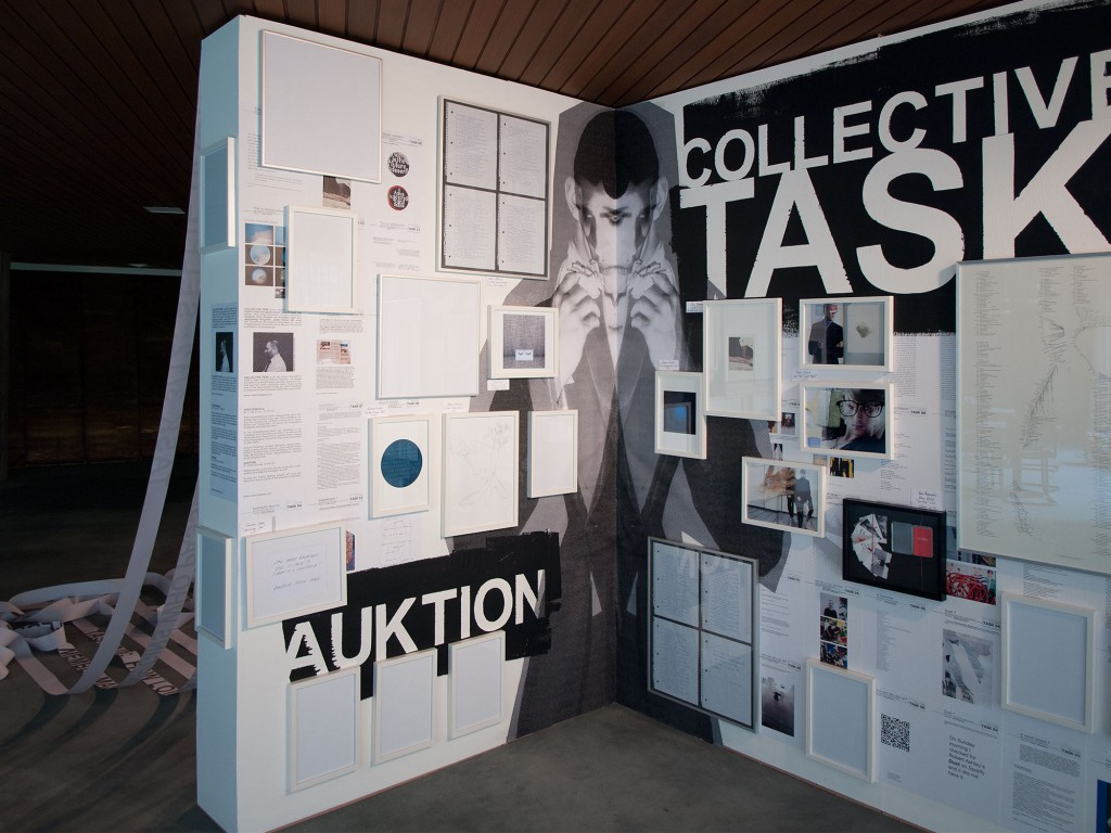 COLLECTIVE TASK, 2014, Akademie der Künste, installation during the poetry festival