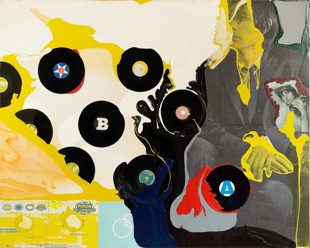 Klaus Killisch, poison recordings, 2003, mixed media on canvas, 160x200cm