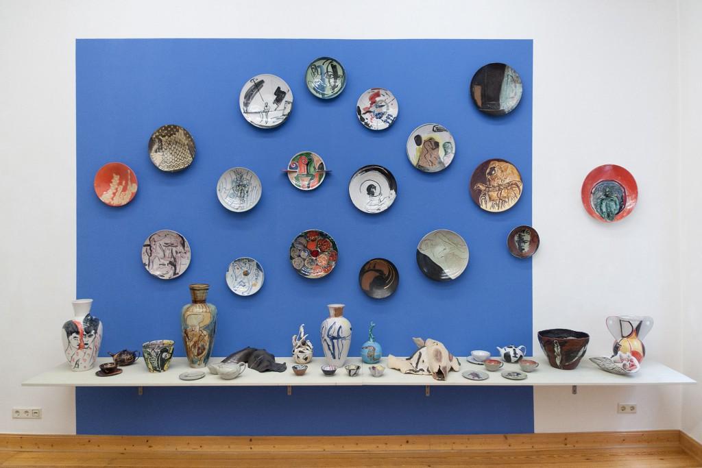 brennzeiten, 2014, Künstler-Keramik 90er Jahre, Werkstatt und Galerie Wilfriede Maaß, Gestaltungsentwurf Klaus Killisch, Sabine Herrmann