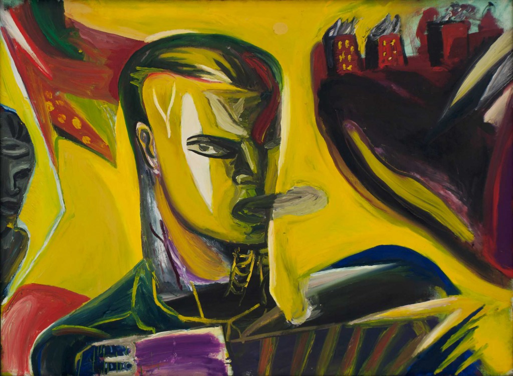 Klaus Killisch, Tango bis es weh tut, 1989, oil on canvas, 130x175, private collection