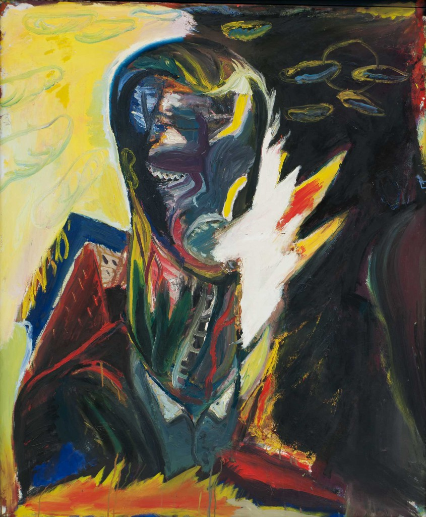 Brennender Kopf, 1989, oil on canvas, 168 x 137 cm, private collection