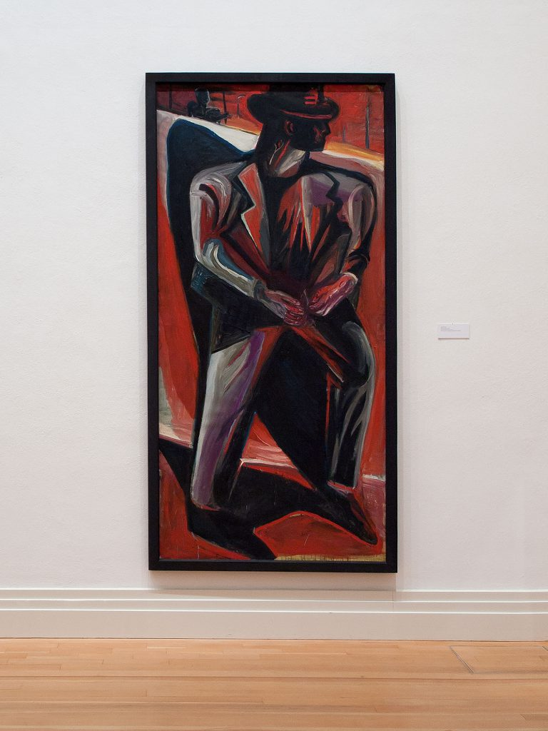 Mann vor Mauer, 1988