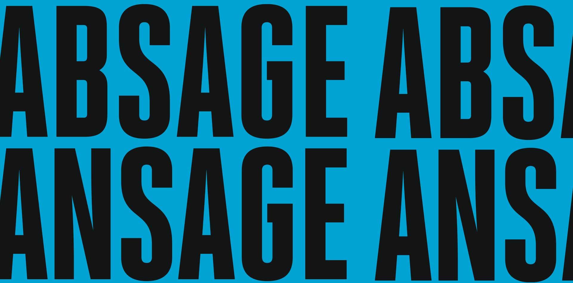 Absage Ansage
